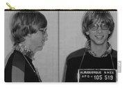 Bill Gates Mug Shot Horizontal Black And White Carry-all Pouch