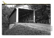 Billie Creek Covered Bridge Black And White Carry-all Pouch