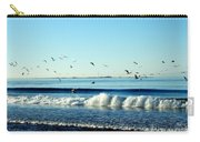 Billowing White Waves And Seagulls Carry-all Pouch