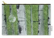 Birch - Green 1 Carry-all Pouch by Jacqueline Athmann
