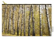 Birch Alley In Autumn Carry-all Pouch