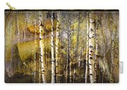Birch Bark And Trees Abstract Carry-all Pouch