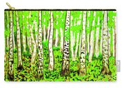 Birch Forest, Painting Carry-all Pouch