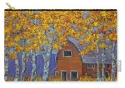 Birch Trees And Barn Carry-all Pouch