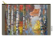 Birch Trees By The Lake Carry-all Pouch