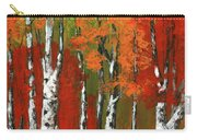 Birch Trees In An Autumn Forest Carry-all Pouch