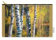 Birch Trees In Golden Fall Carry-all Pouch