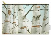 Birch Trees In Late Autumn Carry-all Pouch