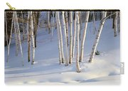 Birch Trees In The Snow, South Carry-all Pouch