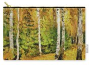 Birches And Spruces Carry-all Pouch