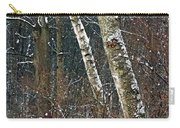 Birches During A Snowfall Carry-all Pouch