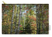 Birches In Fall Forest Carry-all Pouch