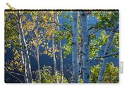Birches On Lake Shore Carry-all Pouch