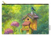Bird House And Bluebird  Carry-all Pouch