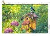 Bird House And Bluebird  Carry-all Pouch