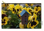 Bird House And Pansies Carry-all Pouch