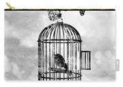 Bird In A Cage-black Carry-all Pouch