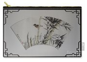 Bird In Bamboo- Fan Painting Carry-all Pouch