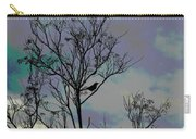 Bird In Tree Silhouette Iv Abstract Carry-all Pouch