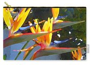 Bird Of Paradise Backlit By Sun Carry-all Pouch by Amy Vangsgard