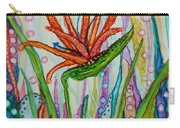 Bird Of Paradise In An Imaginary Garden Carry-all Pouch