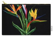 Bird Of Paradise In Black Carry-all Pouch