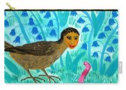 Bird People Blackbird And Worm Carry-all Pouch