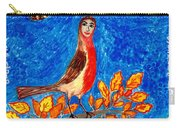 Bird People Robin Carry-all Pouch by Sushila Burgess