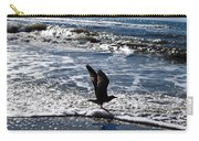 Bird Taking Flight On The Shore Carry-all Pouch