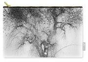 Bird Tree Land Bw Fine Art Print Carry-all Pouch