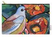 Bird With Prickly Pear Cactus Flowers Carry-all Pouch