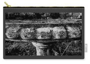 Birdbath In Black And White  Carry-all Pouch