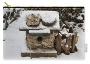 Birdhouse In The Snow Carry-all Pouch