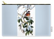 Birds 05 Varied Thrush On Arbutus Robert Bateman Sqs Robert Bateman Carry-all Pouch