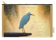 Birds And Fun At Butler Park Austin - Birds 3 Detail Macro Poster - Good Morning Carry-all Pouch