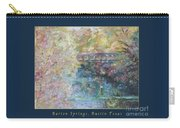 Birds Boaters And Bridges Of Barton Springs - Autumn Colors Pedestrian Bridge Greeting Card Poster Carry-all Pouch
