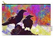 Birds Crow Black  Carry-all Pouch