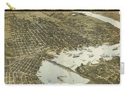 Birds Eye View Of Jacksonville Florida 1893 Carry-all Pouch