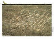Bird's Eye View Of The City Of Raleigh, North Carolina 1872 Carry-all Pouch