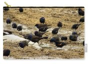 Birds In The Mud Carry-all Pouch