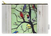 Birds In The Tree Framed Carry-all Pouch