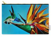 Birds Of Paradise With White Necked Jacobin Hummingbird Carry-all Pouch