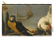 Birds On A Balustrade, Melchior D'hondecoeter, C. 1680 - C. 1690 Carry-all Pouch