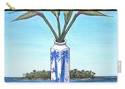 Birds Over Paradise Flowers Carry-all Pouch