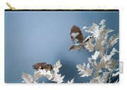 Birds Playing In Infrared Carry-all Pouch by Brian Hale