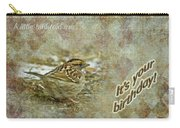 Birthday Greeting Card - White-throated Sparrow Songbird Carry-all Pouch