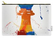 Bishop Chess Piece Paint Splatter Carry-all Pouch
