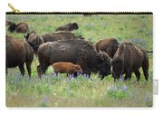 Bison And Lupine Carry-all Pouch