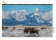Bison At The Tetons Carry-all Pouch