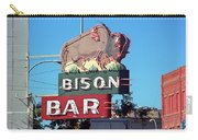 Miles City Montana - Bison Bar Carry-all Pouch